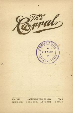 Primary view of object titled 'The Corral, Volume 7, Number 4, January, 1914'.