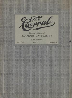Primary view of object titled 'The Corral, Volume 16, Number 1, Fall 1925'.