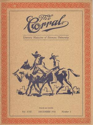 Primary view of object titled 'The Corral, Volume 17, Number 1, December 1926'.