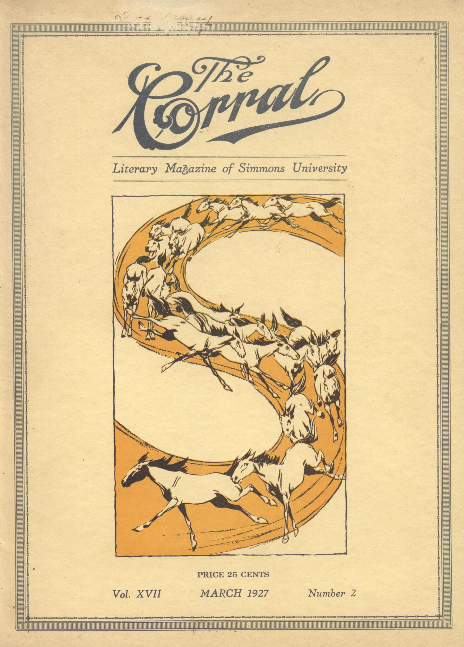 The Corral, Volume 17, Number 2, March 1927                                                                                                      Front Cover