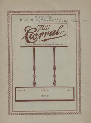 Primary view of object titled 'The Corral, Volume 18, Number 3, June 1928'.