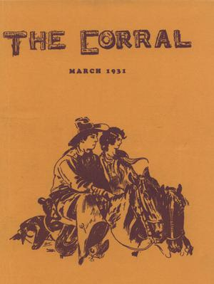 Primary view of object titled 'The Corral, Volume [21], Number [3], March, 1931'.