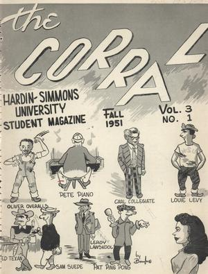 Primary view of object titled 'The Corral, Volume 3, Number 1, Fall 1951'.