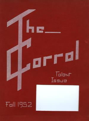 Primary view of object titled 'The Corral, Volume 4, Number 1, Fall 1952'.