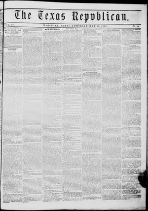 Primary view of The Texas Republican. (Marshall, Tex.), Vol. 3, No. 48, Ed. 1 Saturday, May 29, 1852