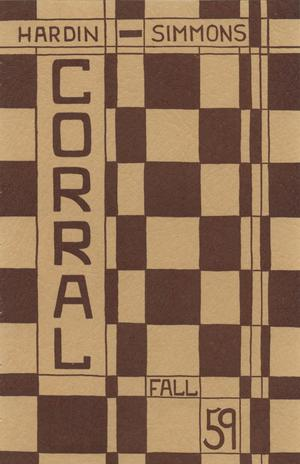 Primary view of object titled 'The Corral, Volume 9, Number 1, Fall, 1959'.