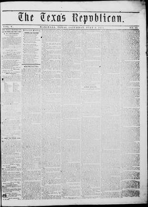 Primary view of The Texas Republican. (Marshall, Tex.), Vol. 5, No. 50, Ed. 1 Saturday, July 8, 1854