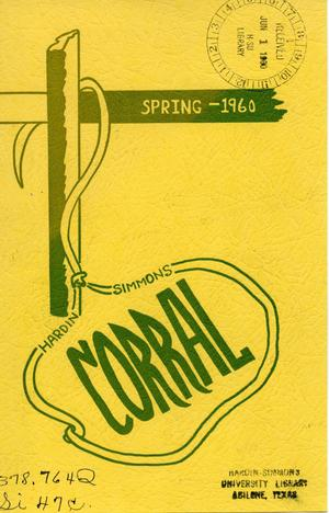 The Corral, Volume 9, Number 1, Spring, 1960