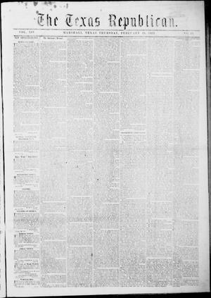 Primary view of Texas Republican. (Marshall, Tex.), Vol. 14, No. 21, Ed. 1 Thursday, February 19, 1863