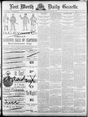 Fort Worth Daily Gazette. (Fort Worth, Tex.), Vol. 15, No. 17, Ed. 1, Friday, October 31, 1890