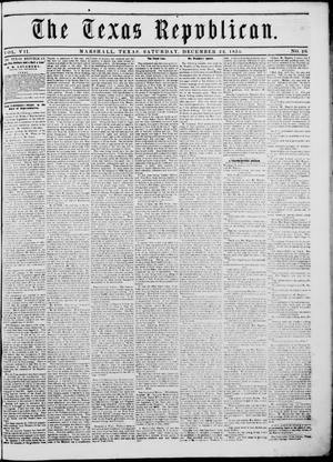 Primary view of The Texas Republican. (Marshall, Tex.), Vol. 7, No. 20, Ed. 1 Saturday, December 22, 1855