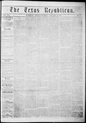 Primary view of The Texas Republican. (Marshall, Tex.), Vol. 13, No. 17, Ed. 1 Saturday, January 18, 1862