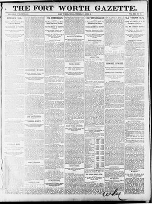 Primary view of object titled 'Fort Worth Gazette. (Fort Worth, Tex.), Vol. 13, No. 17, Ed. 1, Thursday, April 2, 1891'.