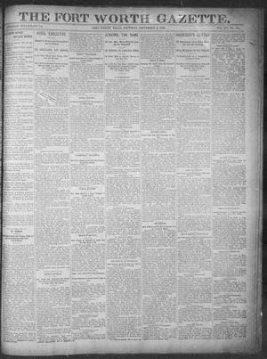 Primary view of object titled 'Fort Worth Gazette. (Fort Worth, Tex.), Vol. 16, No. 301, Ed. 1, Saturday, September 3, 1892'.