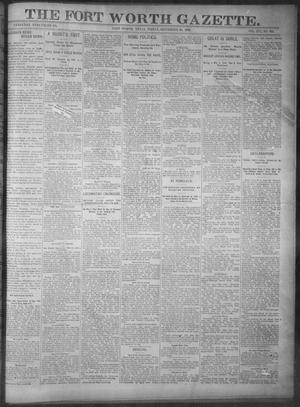Primary view of object titled 'Fort Worth Gazette. (Fort Worth, Tex.), Vol. 16, No. 325, Ed. 1, Friday, September 30, 1892'.