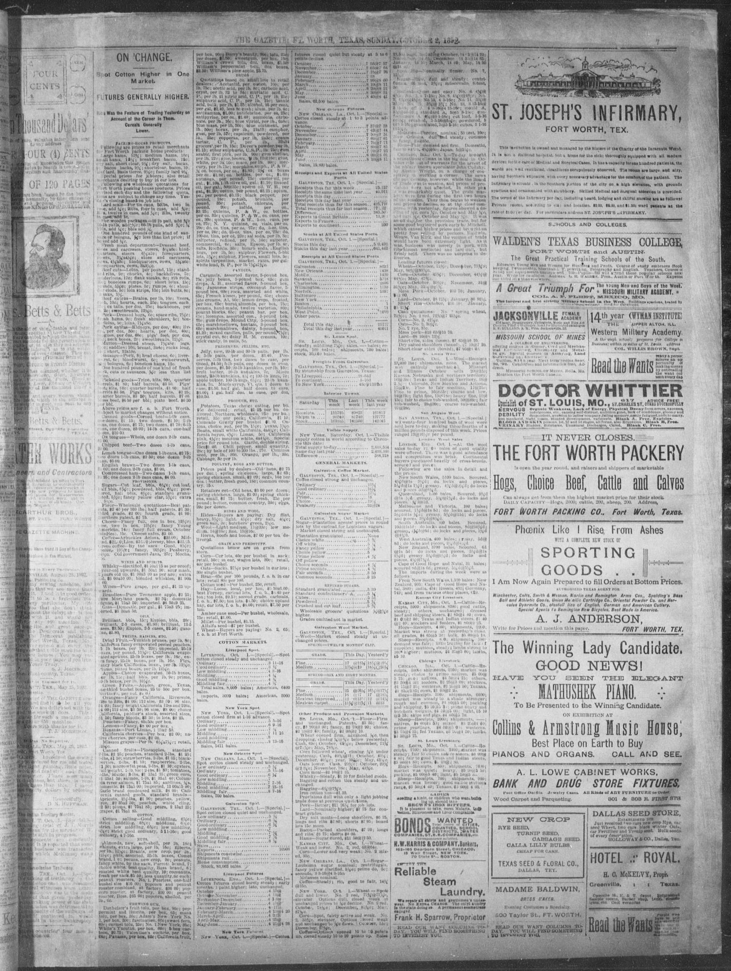 Fort Worth Gazette  (Fort Worth, Tex ), Vol  16, No  327, Ed