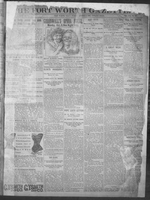 Fort Worth Gazette. (Fort Worth, Tex.), Vol. 16, No. 327, Ed. 1, Sunday, October 2, 1892