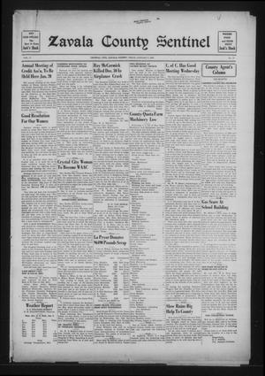 Primary view of object titled 'Zavala County Sentinel (Crystal City, Tex.), Vol. 31, No. 37, Ed. 1 Friday, January 8, 1943'.