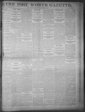 Primary view of object titled 'Fort Worth Gazette. (Fort Worth, Tex.), Vol. 17, No. 45, Ed. 1, Monday, December 26, 1892'.