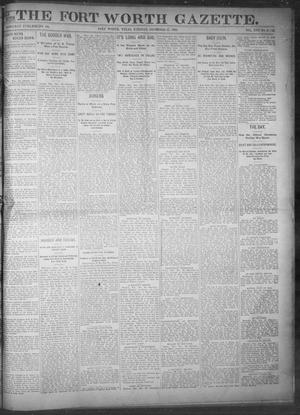 Primary view of object titled 'Fort Worth Gazette. (Fort Worth, Tex.), Vol. 17, No. 46, Ed. 1, Tuesday, December 27, 1892'.