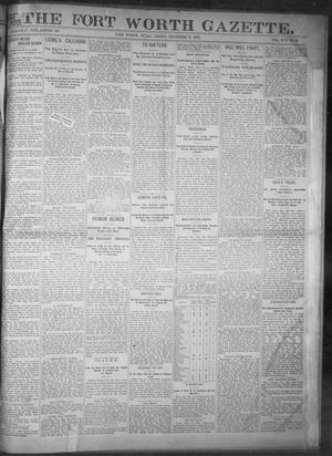 Primary view of object titled 'Fort Worth Gazette. (Fort Worth, Tex.), Vol. 17, No. 48, Ed. 1, Friday, December 30, 1892'.