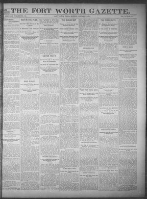 Primary view of object titled 'Fort Worth Gazette. (Fort Worth, Tex.), Vol. 17, No. 50, Ed. 1, Monday, January 2, 1893'.