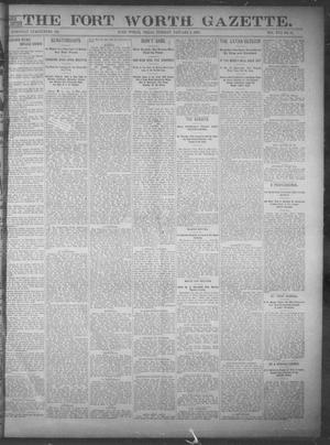 Primary view of object titled 'Fort Worth Gazette. (Fort Worth, Tex.), Vol. 17, No. 52, Ed. 1, Tuesday, January 3, 1893'.