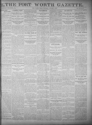 Fort Worth Gazette. (Fort Worth, Tex.), Vol. 17, No. 54, Ed. 1, Thursday, January 5, 1893