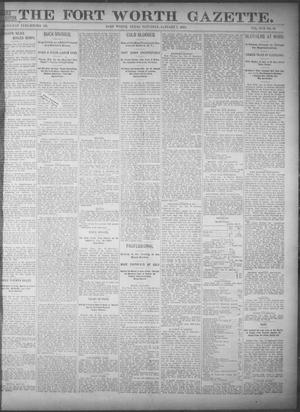 Primary view of object titled 'Fort Worth Gazette. (Fort Worth, Tex.), Vol. 17, No. 56, Ed. 1, Saturday, January 7, 1893'.