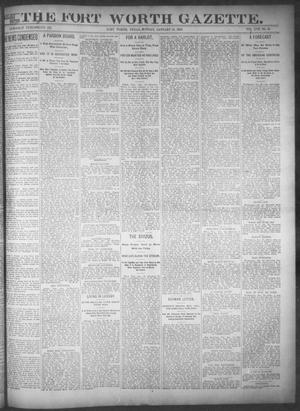 Primary view of object titled 'Fort Worth Gazette. (Fort Worth, Tex.), Vol. 17, No. 65, Ed. 1, Monday, January 16, 1893'.