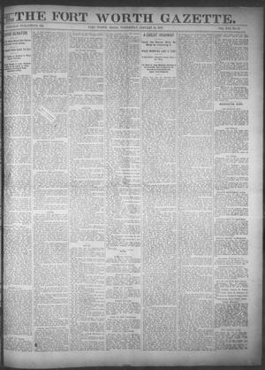 Primary view of object titled 'Fort Worth Gazette. (Fort Worth, Tex.), Vol. 17, No. 67, Ed. 1, Wednesday, January 18, 1893'.