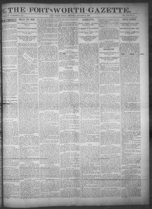 Primary view of object titled 'Fort Worth Gazette. (Fort Worth, Tex.), Vol. 17, No. 70, Ed. 1, Saturday, January 21, 1893'.