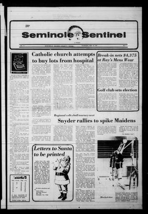 Seminole Sentinel (Seminole, Tex.), Vol. 72, No. 9, Ed. 1 Thursday, November 30, 1978