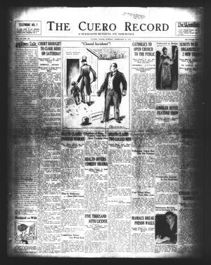 Primary view of object titled 'The Cuero Record (Cuero, Tex.), Vol. 37, No. 32, Ed. 1 Sunday, February 8, 1931'.