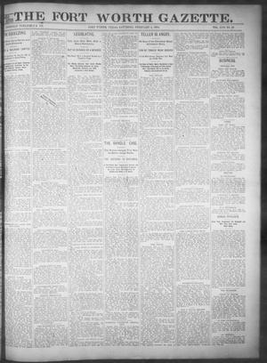 Fort Worth Gazette. (Fort Worth, Tex.), Vol. 17, No. 83, Ed. 1, Saturday, February 4, 1893