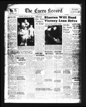 Primary view of The Cuero Record (Cuero, Tex.), Vol. 51, No. 254, Ed. 1 Thursday, October 25, 1945