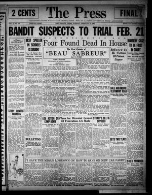 The Press (Fort Worth, Tex.), Vol. 6, No. 110, Ed. 1 Tuesday, February 8, 1927