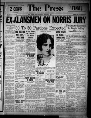 The Press (Fort Worth, Tex.), Vol. 6, No. 88, Ed. 1 Thursday, January 13, 1927