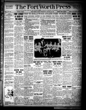 The Fort Worth Press (Fort Worth, Tex.), Vol. 6, No. 99, Ed. 1 Wednesday, January 26, 1927