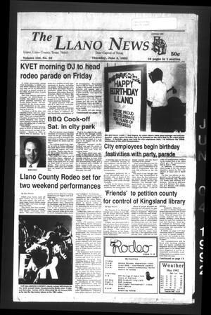 The Llano News (Llano, Tex.), Vol. 102, No. 33, Ed. 1 Thursday, June 4, 1992