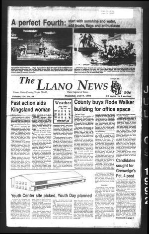 The Llano News (Llano, Tex.), Vol. 104, No. 38, Ed. 1 Thursday, July 9, 1992