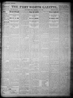 Primary view of Fort Worth Gazette. (Fort Worth, Tex.), Vol. 18, No. 167, Ed. 1, Wednesday, May 9, 1894
