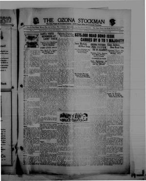 Primary view of The Ozona Stockman (Ozona, Tex.), Vol. 16, No. 37, Ed. 1 Thursday, December 26, 1929