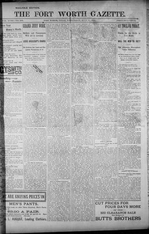 Primary view of object titled 'Fort Worth Gazette. (Fort Worth, Tex.), Vol. 18, No. 230, Ed. 1, Wednesday, July 11, 1894'.