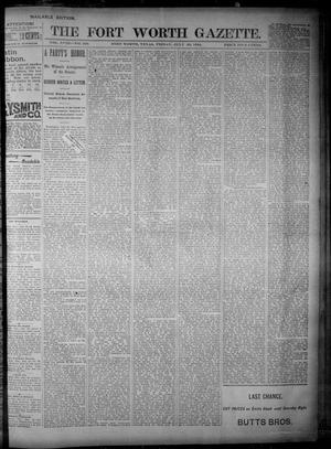 Primary view of object titled 'Fort Worth Gazette. (Fort Worth, Tex.), Vol. 18, No. 239, Ed. 1, Friday, July 20, 1894'.