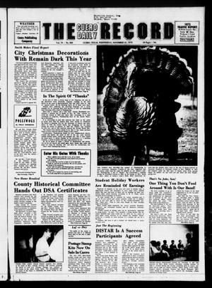 The Cuero Daily Record (Cuero, Tex.), Vol. 79, No. 263, Ed. 1 Wednesday, November 21, 1973
