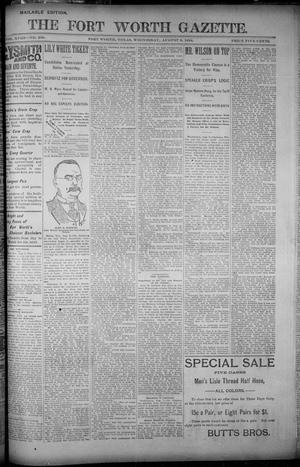 Primary view of object titled 'Fort Worth Gazette. (Fort Worth, Tex.), Vol. 18, No. 258, Ed. 1, Wednesday, August 8, 1894'.