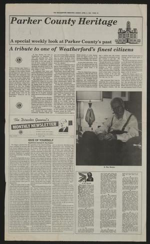Primary view of object titled 'The Weatherford Democrat (Weatherford, Tex.), Ed. 1 Sunday, April 3, 1994'.