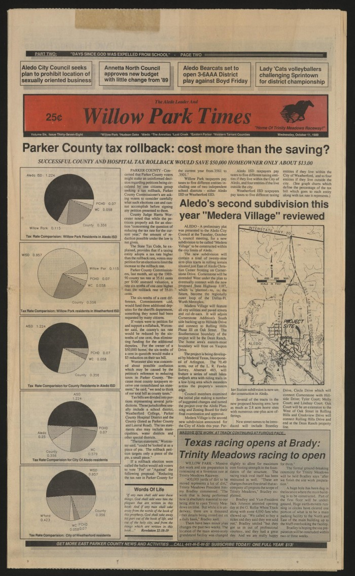 The Aledo Leader and Willow Park Times (Aledo, Tex ), Vol  6