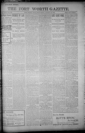 Primary view of object titled 'Fort Worth Gazette. (Fort Worth, Tex.), Vol. 18, No. 272, Ed. 1, Wednesday, August 22, 1894'.